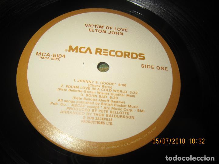 Discos de vinilo: ELTON JOHN - VICTIM OF LOVE LP - ORIGINAL U.S.A. - MCA RECORDS 1979 CON FUNDA INT. ORIGINAL - Foto 14 - 128961355