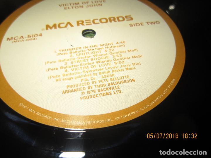 Discos de vinilo: ELTON JOHN - VICTIM OF LOVE LP - ORIGINAL U.S.A. - MCA RECORDS 1979 CON FUNDA INT. ORIGINAL - Foto 17 - 128961355