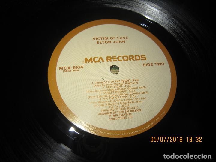 Discos de vinilo: ELTON JOHN - VICTIM OF LOVE LP - ORIGINAL U.S.A. - MCA RECORDS 1979 CON FUNDA INT. ORIGINAL - Foto 18 - 128961355