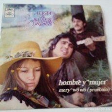 Discos de vinilo: ALICIA & NUBES GRISES- HOMBRE Y MUJER- SINGLE 1970- EXC. ESTADO.. Lote 128965891