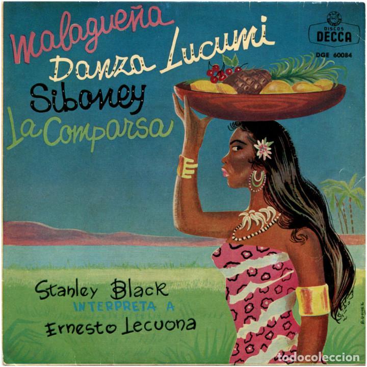 STANLEY BLACK - INTERPRETA A ERNESTO LECUONA - EP SPAIN 1962 - DECCA DGE 60084 (Música - Discos de Vinilo - EPs - Orquestas)