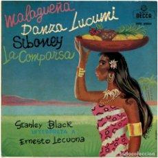 Discos de vinilo: STANLEY BLACK - INTERPRETA A ERNESTO LECUONA - EP SPAIN 1962 - DECCA DGE 60084. Lote 128966411