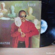 Discos de vinilo: STEVIE WONDER CHARACTERS LP SPAIN 1987 PDELUXE. Lote 128973335