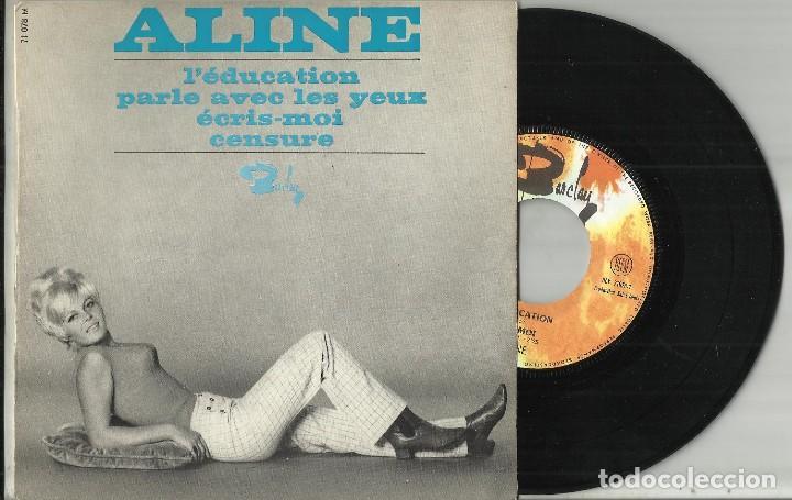 ALINE EP L'ÉDUCATION / PARLE AVEC LES YEUX / ÉCRIS-MOI / CENSURE FRANCIA 1966 (Música - Discos de Vinilo - EPs - Canción Francesa e Italiana)