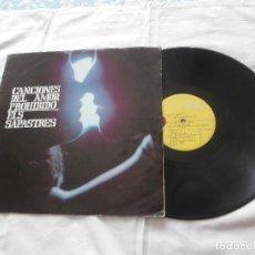 Discos de vinilo: ELS SAPASTRES LP CANCIONES DEL AMOR PROHIBIO (1969) PRIMERA EDICION ORIGINAL- BUENA CONDICION. Lote 128987611