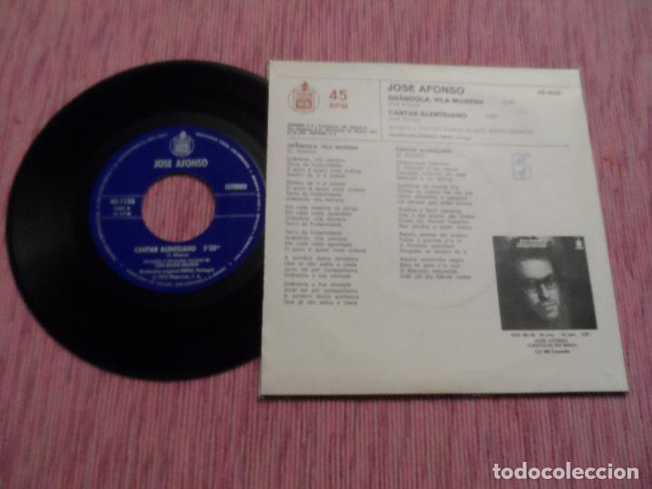 Discos de vinilo: JOSE AFONSO - GRANDOLA / VILA MORENA - Foto 2 - 129007015