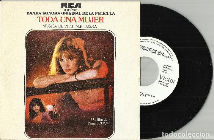 TODA UNA MUJER B.S.O. VLADIMIR COSMA LA DEROBADE / LE MANIAQUE SINGLE PROMOCIONAL ESPAÑA 1979 (Música - Discos - Singles Vinilo - Bandas Sonoras y Actores)