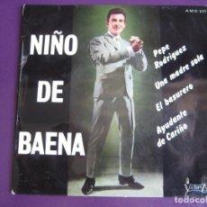Dischi in vinile: NIÑO DE BAENA EP VICTORIA 1966 PEPE RODRIGUEZ/ EL BASURERO +2 CANCION ESPAÑOLA - RUMBAS POP. Lote 129037895