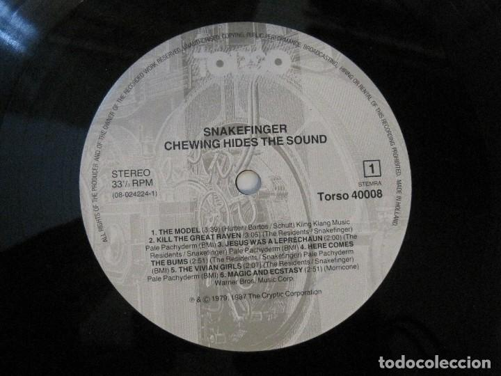 Discos de vinilo: SNAKEFINGER - CHEWING HIDES THE SOUND (THE RESIDENTS) 87 THE CRIPTIC CORPORATION. - Foto 4 - 129038895