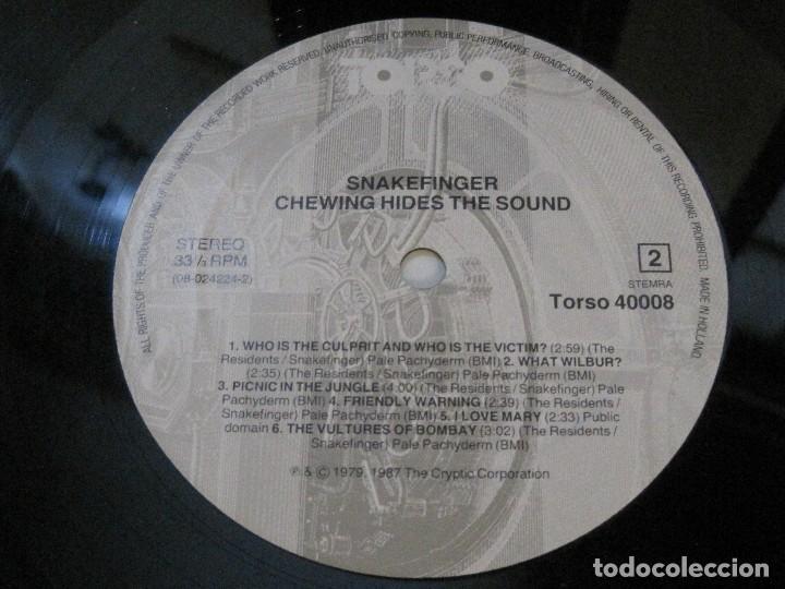 Discos de vinilo: SNAKEFINGER - CHEWING HIDES THE SOUND (THE RESIDENTS) 87 THE CRIPTIC CORPORATION. - Foto 6 - 129038895