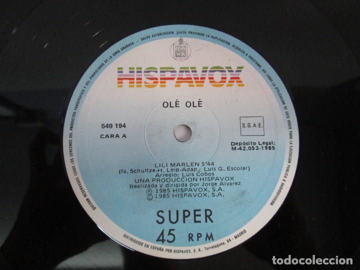 Discos de vinilo: OLE OLE. LILI MARLEN. MAXI SINGLE VINILO. HISPAVOX 1985. VER FOTOGRAFIAS ADJUNTAS - Foto 4 - 129042031
