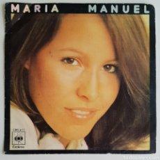 Discos de vinilo: SINGLE MARÍA MANUEL TE IRÁS AMOR. Lote 129070074