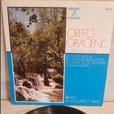 Discos de vinilo: ORFEÓ GRACIENC - COBLA BARCELONA / LA SANTA ESPINA / EP-COLUMBIA - 1975 / MBC. ***/***. Lote 129092495