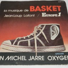 Discos de vinilo: JEAN MICHEL JARRE - OXYGENE - EUROPE1 - LA MUSIQUE DE BASKET - NO INCLUYE DISCO, SOLO CARPETA -. Lote 129094779