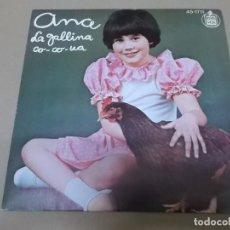 Discos de vinilo: ANA (SN) LA GALLINA CO-CO-UA AÑO 1978. Lote 129100763