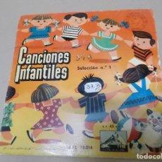 Discos de vinilo: CANCIONES POPULARES INFANTILES SELECCIÓN Nº 1 (EP) CORO DE NIÑOS Y NIÑAS CON ORQUESTA AÑO 1956. Lote 129101623