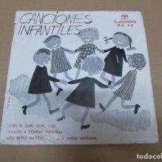 Discos de vinilo: CANCIONES POPULARES INFANTILES MN 48 (EP) CON EL GURI GURI GURI AÑO 1964. Lote 129101895