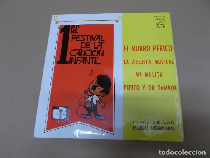 CORO DE LAS ESCUELAS AVEMARIANAS (EP) EL BURRO PERICO AÑO 1967 (Música - Discos de Vinilo - EPs - Música Infantil)
