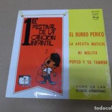 Discos de vinilo: CORO DE LAS ESCUELAS AVEMARIANAS (EP) EL BURRO PERICO AÑO 1967. Lote 129103027