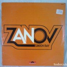 Discos de vinilo: ZANOV - GREEN RAY - 1976 FRANCE - POLYDOR 2393 151 - DISCO VINILO LP. Lote 129106351