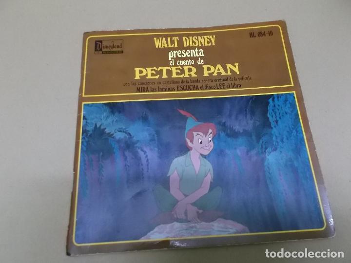 PETER PAN (EP) CANCIONES DE LA BANDA SONORA DE LA PELICULA EN CASTELLANO AÑO 1968 – DISCO + CUENTO (Música - Discos de Vinilo - EPs - Música Infantil)