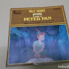 Discos de vinilo: PETER PAN (EP) CANCIONES DE LA BANDA SONORA DE LA PELICULA EN CASTELLANO AÑO 1968 – DISCO + CUENTO. Lote 129108171