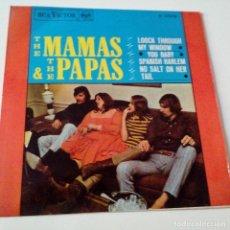 Discos de vinilo: THE MAMAS & THE PAPAS- LOOK THROUGH MY WINDOW - SPAIN EP 1966 - EXC. ESTADO.. Lote 129125383