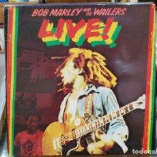 Discos de vinilo: BOB MARLEY AND THE WAILERS - LIVE! - LP. DEL SELLO ISLAND DE 1978. Lote 129139931