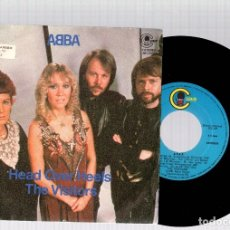 Discos de vinilo: SINGLE ABBA. HEAD OVER HEELS. THE VISITORS. CARNABY, AÑO 1981. Lote 129142371