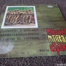 Discos de vinilo: DISCO VINILO MARCHAS MILITARES ESPAÑOLAS. Lote 129145330