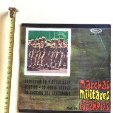 Discos de vinilo: MARCHAS MILITARES ESPAÑOLAS, BANDA DE LA POLICÍA ARMADA DE BARCELONA, 4 MARCHAS, VOL.III. Lote 129167035