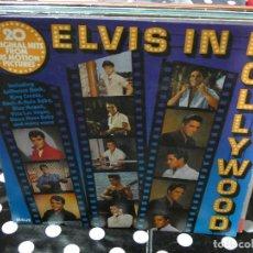 Discos de vinilo: LP ELVIS PRESLEY ELVIS IN HOLLYWOOD 20 ORIGINAL HITS FROM MOTIN PICTURES MUY BUEN ESTADO. Lote 129194375