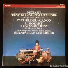 Discos de vinilo: SIR NEVILLE MARRINER - TOY SYMPOHNY - MOZART, PACHEBEL. Lote 129225307