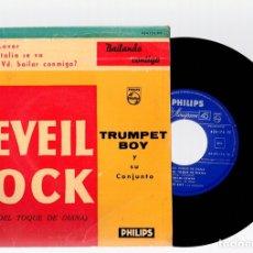 Discos de vinilo: SINGLE TRUMPET BOY Y SU CONJUNTO. REVEIL ROCK. PHILIPS, AÑO 1960. Lote 129233894