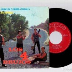 Discos de vinilo: SINGLE LOS 4 BRUJOS. ZAFIRO, AÑO 1964. Lote 129235806