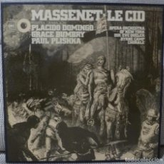 Discos de vinilo: MASSENET - LE CID (CAJA 3 LPS + LIBRETO CBS ESPAÑA) VINILOS COMO NUEVOS. Lote 129278559