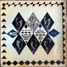 Discos de vinilo: MUSTANG. LA LA LA/ EL SOL NO BRILLARÁ NUNCA MÁS/ EL MISMO PROBLEMA/ QUÉ MÁS DA. EMI-MASTERVOICE 1966. Lote 129291947