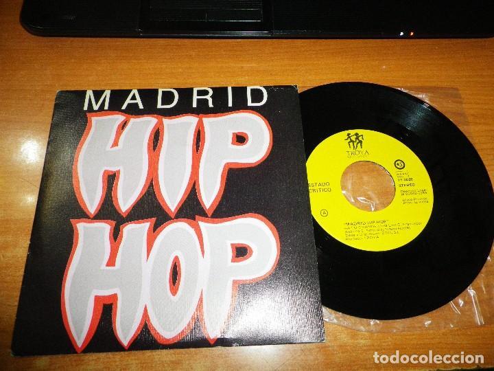 MADRID HIP HOP A LO GRANDE ESTADO CRITICO / TU AMOR ES LO MEJOR QSC SINGLE VINILO PROMO 1989 RAP (Música - Discos - Singles Vinilo - Rap / Hip Hop)