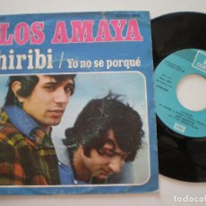 Discos de vinilo: LOS AMAYA -CHIRIBI / YO NO SE PORQUE - SINGLE EMI ODEON 1974 // RUMBA RUMBAS. Lote 129297859