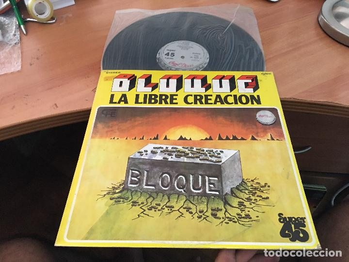 BLOQUE (LA LIBRE CREACION) MAXI ESPAÑA 1978 PROMO CHAPA DISCOS CONSERVA LAS ASAS (VIN-A7) (Música - Discos de Vinilo - Maxi Singles - Grupos Españoles de los 70 y 80)