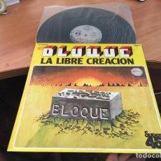 Discos de vinilo: BLOQUE (LA LIBRE CREACION) MAXI ESPAÑA 1978 PROMO CHAPA DISCOS CONSERVA LAS ASAS (VIN-A7). Lote 129298295