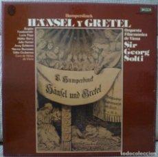 Discos de vinilo: HUMPERDINCK - HANSEL Y GRETEL (CAJA 2 LPS + LIBRETO DECCA ESPAÑA). Lote 129310259