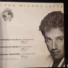 Discos de vinilo: MAXI - JEAN-MICHEL JARRE – RENDEZ-VOUS IV (SPECIAL REMIX) - POLYDOR – 885 045-1. Lote 129313535