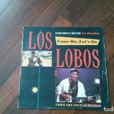 Discos de vinilo: LOS LOBOS-COME ON,LET'S GO. LA BAMBA + 2 TEMAS.MAXI. Lote 129324495