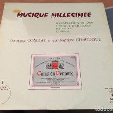 Discos de vinilo: FRANÇOIS COMTAT - JEAN BAPTISTE CHAUDOUL (MUSIQUE MILLESIMEE) LP FRANCE (VIN-A7). Lote 129327983