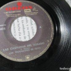 Discos de vinilo: LOS TROVADORES DE CUYO ODEON COLOMBIA G 45RPM Z10 RARO ESCASO. Lote 129332543