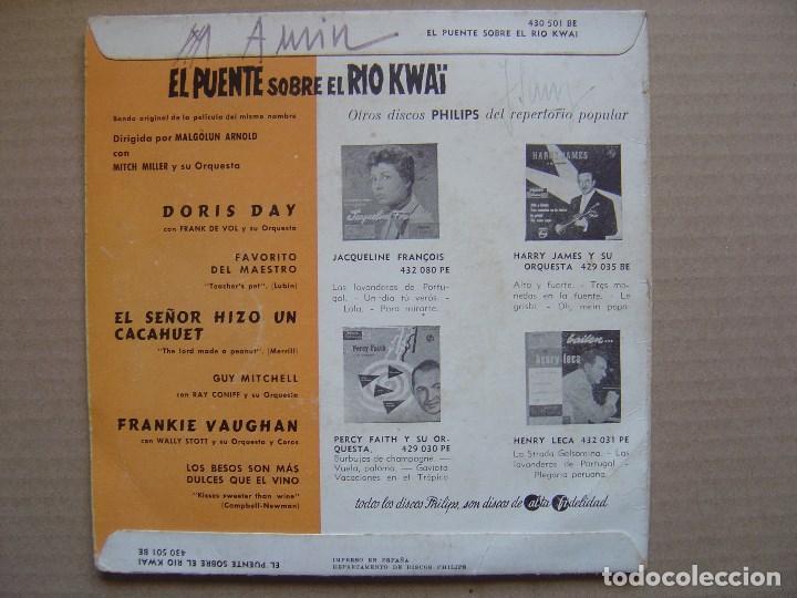 Discos de vinilo: VARIOS - BANDA SONORA - EL PUENTE SOBRE EL RIO KWAÏ - EP 1958 - PHILIPS - Foto 2 - 129341843