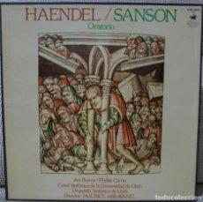 Discos de vinilo: HAENDEL - SANSON (CAJA 3 LPS + LIBRETO HISPAVOX ESPAÑA) VINILOS COMO NUEVOS. Lote 129344743