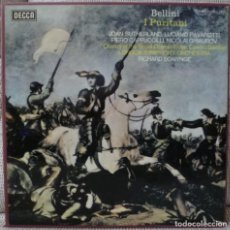 Discos de vinilo: BELLINI - I PURITANI (CAJA 3 LPS + LIBRETO DECCA ESPAÑA) VINILOS COMO NUEVOS. Lote 129349779