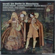 Discos de vinilo: VERDI - UN BALLO IN MASCHERA (CAJA 2 LPS + LIBRETO DECCA ESPAÑA) VINILOS COMO NUEVOS. Lote 129350159
